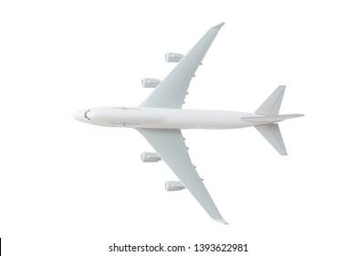 Modellflugzeug, Flugzeug mit Beschneidungspfad - Draufsicht
