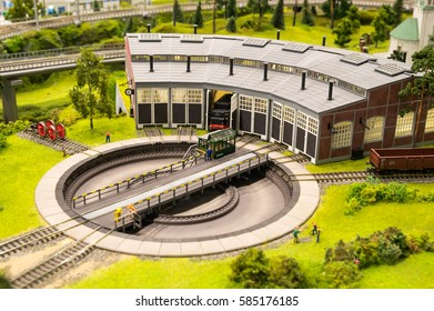 Model of railway and city district