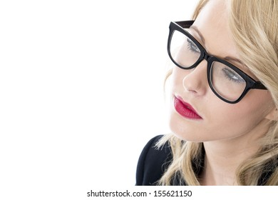 Model Released. Serious Thoughtful Young Business Woman