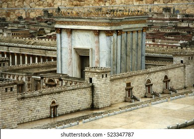 Model of the Second Temple. Israel. Jerusalem