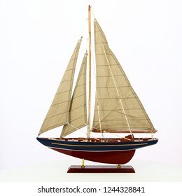 Model of ship on white background