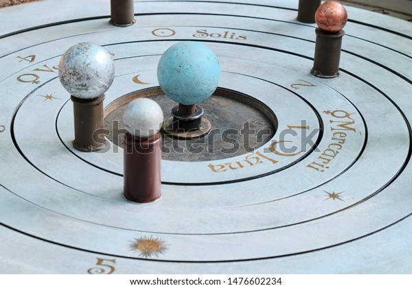 Model of the solar system in ancient times. Geocentric system of world - the Central position in the Universe is occupied by a stationary Earth, around which the Sun, Moon, planets and stars rotate.