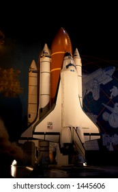 A model of the space shuttle at the houston space center