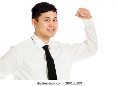 Model strength arm curl