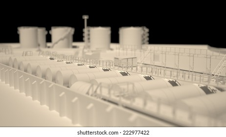 Model of tank farm