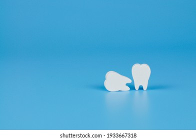 model of teeth for teaching oral hygiene. human jaw model. background for pediatric dentistry