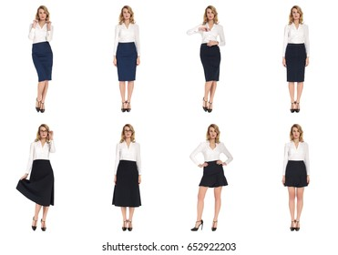 Model Tests, young slim women posing in skirt