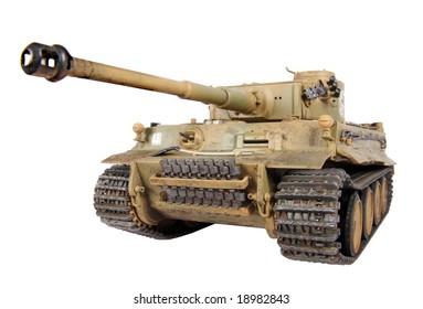 Model of Tiger tank
