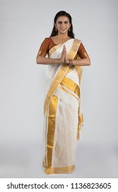 model in traditional kerala saree south indian look
