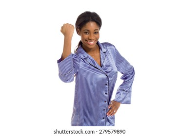 Model triumph victory fist