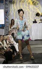 A model walks the runway during Delray Fashion Week 2017 at Il Bacio in Delray Beach on January 25th, 2017