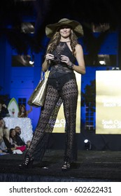A model walks the runway during Delray Fashion Week 2017 at Il Bacio in Delray Beach on January 28th, 2017