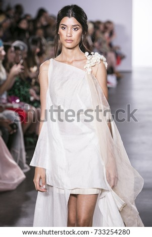 e26dc80fe937 A model walks the runway for Indian Designer Vaishali s Spring Summer 2018  collection during New York