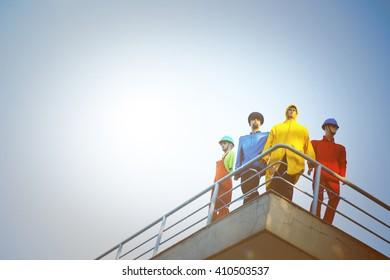 Model workers.