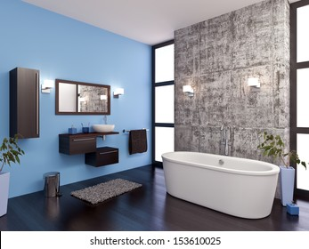 modeling and rendering of a bathroom