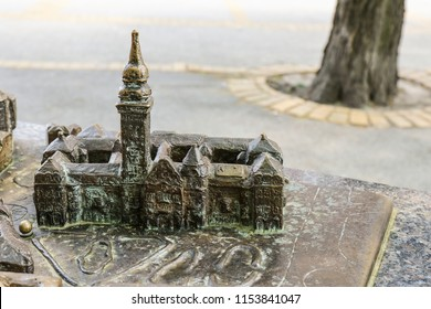 Model-plan 3D sightseeings of the city of Subotica. Serbia, Subotica, April 29, 2018