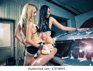 girls Car wash