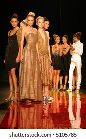 Models posing in a fashion show