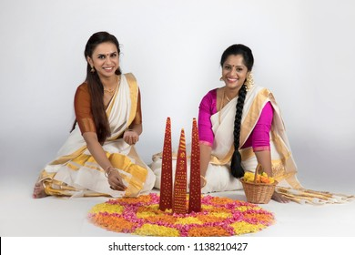 models in traditional kerala saree south indian look