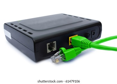 modem on the white background
