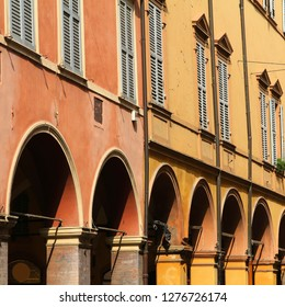 Modena, Italy - Emilia-Romagna region. Colorful Mediterranean architecture.