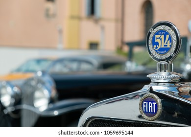 Modena, Italy - March, 2018. Old Fiat 514 on display in the square of the Enzo Ferrari museum house on the occasion of the Concours d'Elegance Trofeo Salvarola Terme