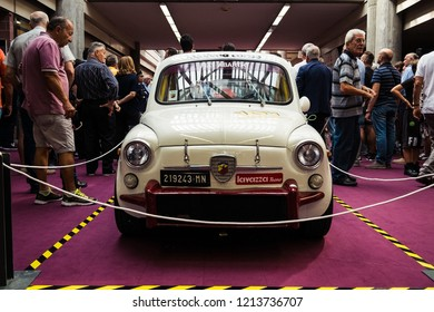 MODENA, ITALY - September, 2018. Modena Motor Gallery exhibit a vintage Fiat 500 Abarth car