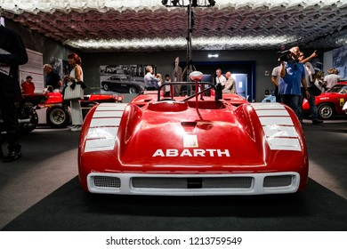 MODENA, ITALY - September, 2018. Modena Motor Gallery exhibit a vintage Fiat Abarth racing car