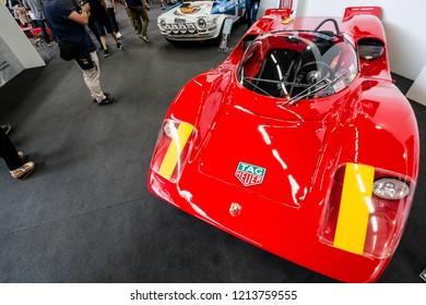 MODENA, ITALY - September, 2018. Modena Motor Gallery exhibit a vintage Fiat Abarth 2000 tubolare