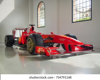 MODENA, ITALY JULY 21, 2017: 2009 F1 Ferrari F60 In The Enzo
