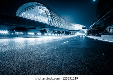 modenrn railway station at shanghai china.
