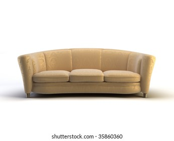 modern 3d sofa on the white background