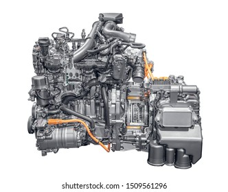 Modern 4 cylinder plug-in hybrid gasoline engine