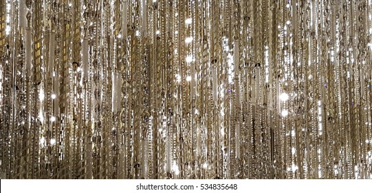 modern abstract chandelier silver crystals pattern background