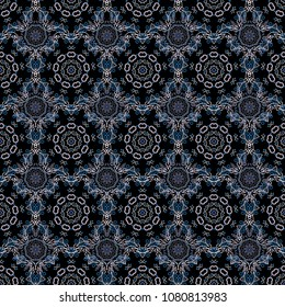 Modern abstract design poster, cover, card design in blue, white and brown colors. Trendy stylized snowflakes and elements memphis cards. Retro style texture, pattern and abstract winter elements.