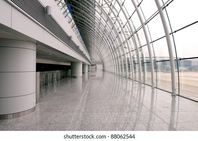 Modern airport structure in Guangzhou China