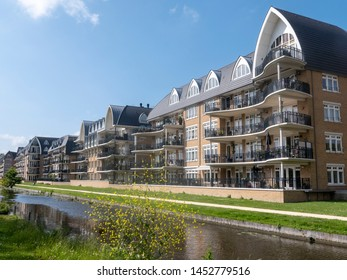 Modern apartment buildings near Leiden in the Netherlands