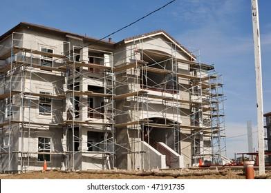 Modern Apartment Complex Under Construction