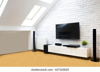 Modern apartment with home theater