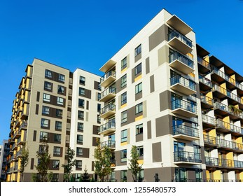 Modern Apartment houses residential buildings complex real estate concept