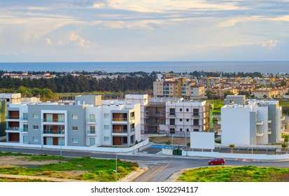 Modern apartments building construction site in Paphos, Syprus