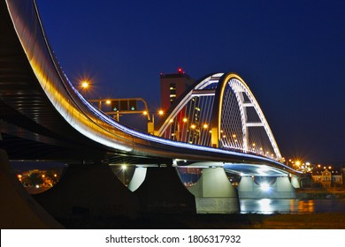 Modern Apollo Bridge, Bratislava, Slovakia. - Shutterstock ID 1806317932