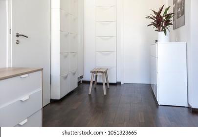 Modern appartment interior, entrance hall area