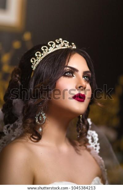 Modern Arab Wedding Look Beautiful Middle Stock Photo Edit Now