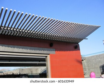 Modern architectural style of a roof of a chinese building