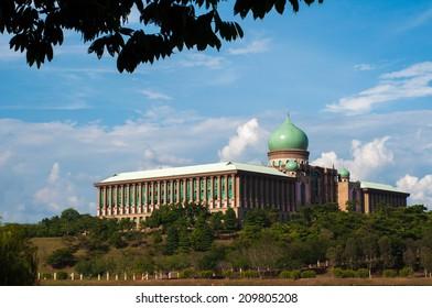 Modern architecture with Arabic design, Putrajaya, Malaysia