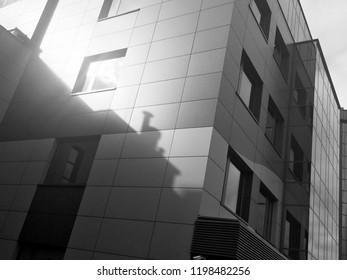 modern architecture black white