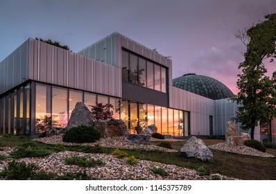 Modern architecture of Brno planetarium