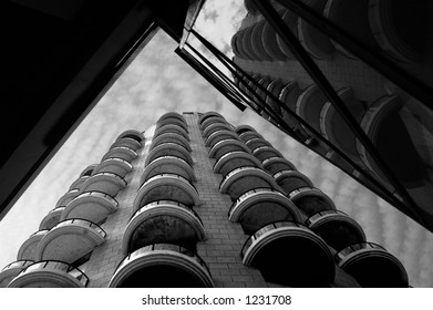 modern architecture in B&W