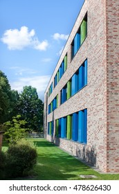 modern architecture with coloured Windows